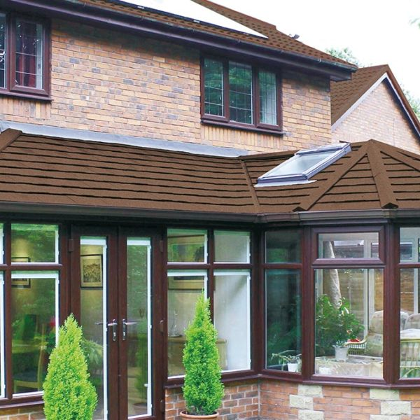 Brown Solid Tiled Roof