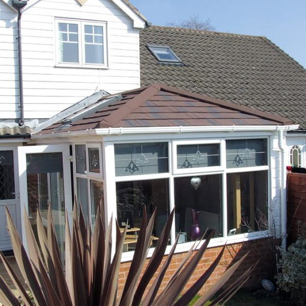 Coloured Conservatory Tile Roof