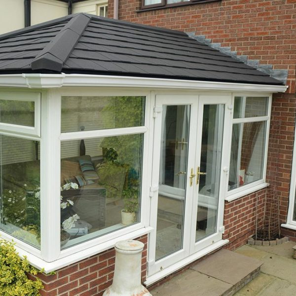 Grey Solid Tile Roof