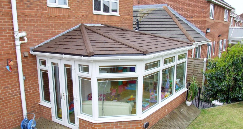 Solid Tile Conservatory Extension