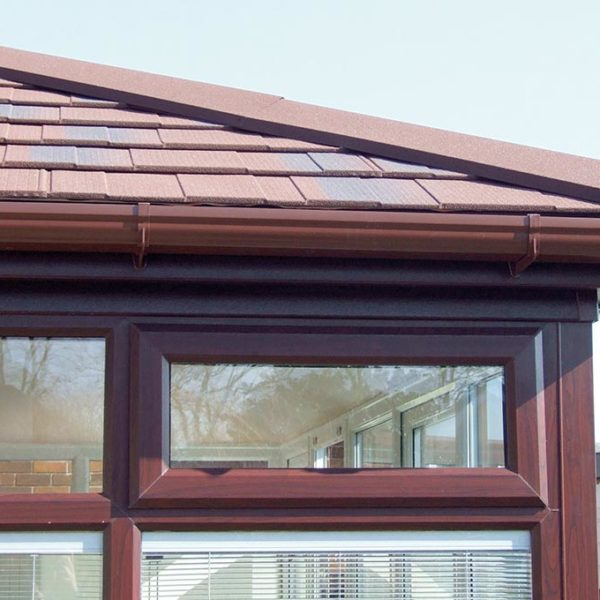 Solid Tile Roof with gutter