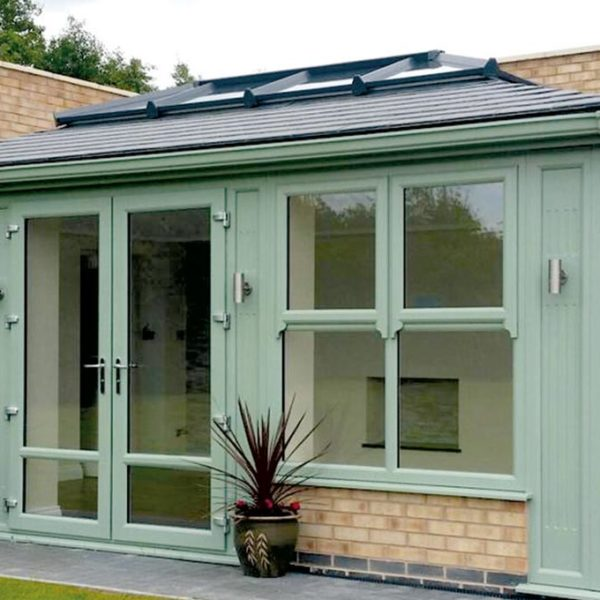 Orangery Solid Tile Roof in Chartwell Green