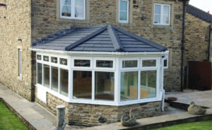 uPVC Conservatory with Solid Tile Roof