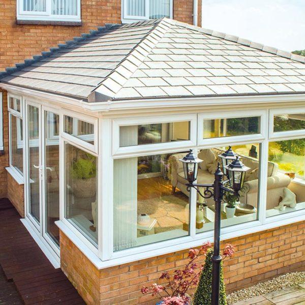 Premium Grey Conservatory Tile Roof