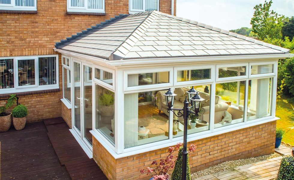 Premium Grey Conservatory Tile Roof
