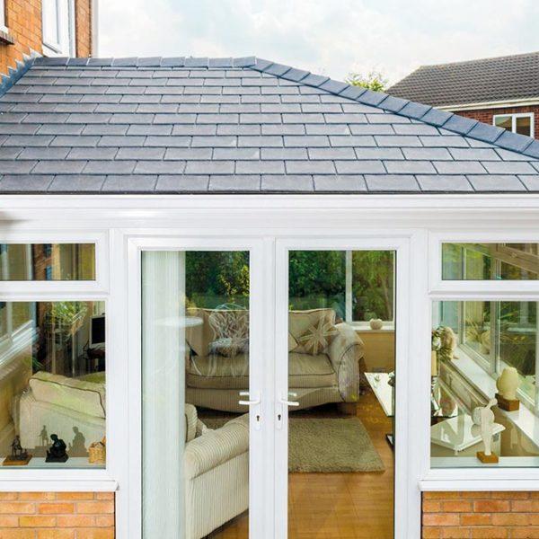 Premium Grey Slate Solid Tile Roof